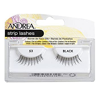 df833a2cb1f Amazon.com : Andrea Eyelash Strip Lashes Black [53] 1 ea (Pack of 4) : Fake  Eyelashes And Adhesives : Beauty