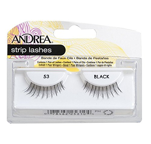 Andrea Eyelash Strip Lashes Black [53] 1 ea (Pack of 4)