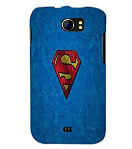 PrintDhaba Superman Logo D-2307 Back Case Cover for MICROMAX A110 CANVAS 2 (Multi-Coloured)