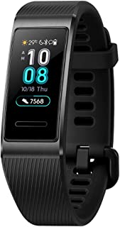 Huawei Band 3 Pro All-in-One Fitness Activity Tracker, 5ATM Water Resistance Swim, 24/7 Heart Rate Monitor, Built-in GPS, Multi-Sports Mode, Sleep Tracking (Black, One Size) China Terra-B19