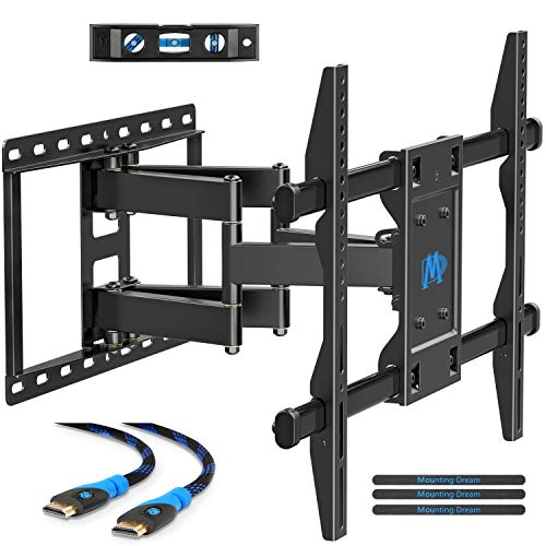 Mounting Dream TV Mount for Most 42-70 inch Flat Screen TVs Up to 100 lbs, Full Motion TV Wall Mount with Swivel Articulating 6 Arms, TV Wall Mounts Fit 12-16