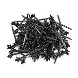 eDealMax 100Pcs 5 mm x 90 mm en Nylon polyvalent Poussez le Mont Winged Cable Ties Noir