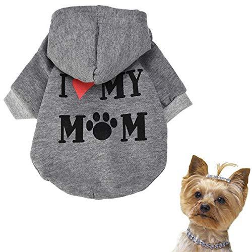 Wanzi Pet Clothes, Puppy Cotton Blend T-Shirt Apparel,Summer Dog T-Shirts,Fashion Shirts Costume for Small Pet Dog (Gray, M) by Wanzi (Image #2)