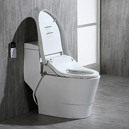 WoodBridge T-0008 Luxury Bidet Toilet, Elongated One Piece Toilet with Advanced Bidet Seat, Smart Toilet Seat with Temperature Controlled Wash Functions and Air Dryer by Woodbridgebath (Image #4)'