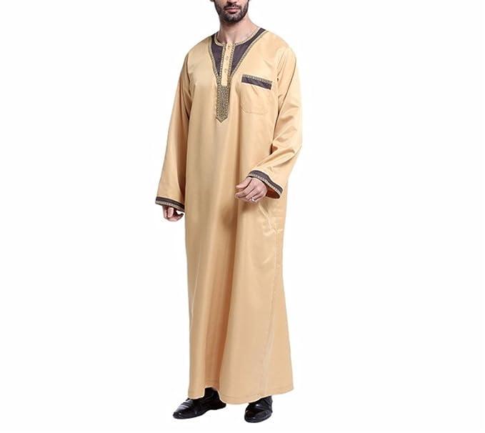 zhbotaolang Ropa Musulmana para Hombres Camisa de Vestir ...