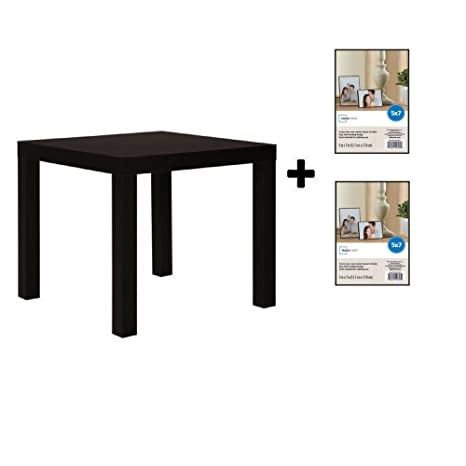 quality design 97d0c e9890 Mainstays Parsons Side End Table, Multiple Colors (Black with Format Frame)