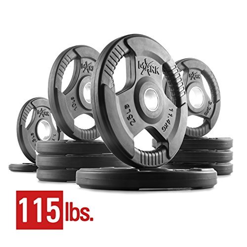 XMark Fitness XM-3377-BAL-115 Rubber Coated Olympic Plates by XMark Fitness