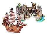 Melissa & Doug 3-D Puzzle Kits Set: Pirate Ship and Medieval Castle