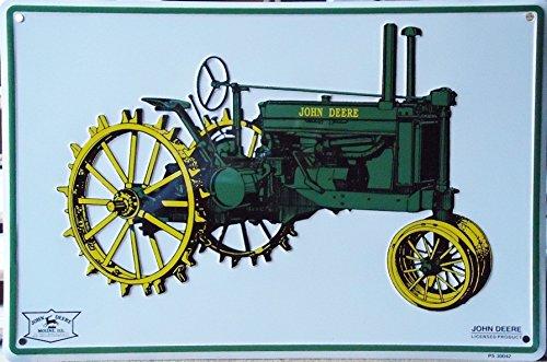 John Deere Tractor (Model G 1938-1953) Metal Parking Sign (Farm Tractor Sign)