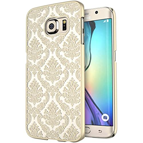 S7 Edge Case, Galaxy S7 Edge Case, SGM Damask Design Pattern Rubber Coating Ultra Slim Fit Hard Hybrid Case Cover Sales