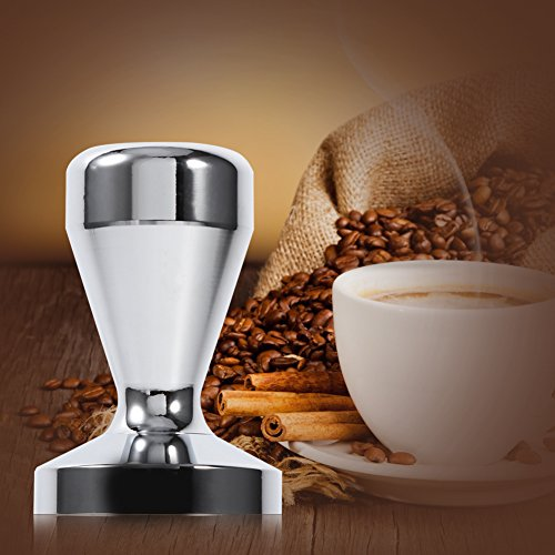 Fdit Stainless Steel Espresso Tamper Coffee Bean Press Tool With 51mm Diameter Flat Base