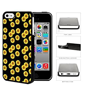 Cute Sunflowers With Black Background Hard Plastic Snap On Cell Phone Case Apple iPhone 5c by runtopwell