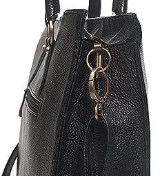 ZipperNext Leather Shoulder Bag Hand Bag Laptop Messenger Bag Business Tote for Women – Black