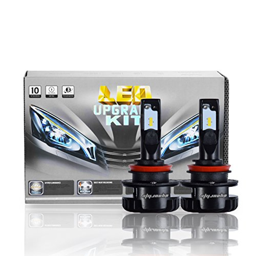 H11(H8 H9) LED Headlight Bulbs,2 Pack Eyourlife Colbeam Headlight Conversion Kit 7200Lm 6000k Cool White Driving Headlight Lamp-3 Years Warranty (Porsche 911 Headlight Switch)