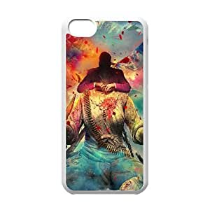 Caso del iPhone 5C Teléfono Funda Blanca Far Cry Juego de Arte Digital Q2I0RO Claro Phone Case Fundas Steam