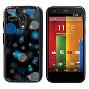 LECELL -- Funda protectora / Cubierta / Piel For Motorola Moto G 1 1ST Gen I X1032 -- Bokeh Blue & Gray Pattern --