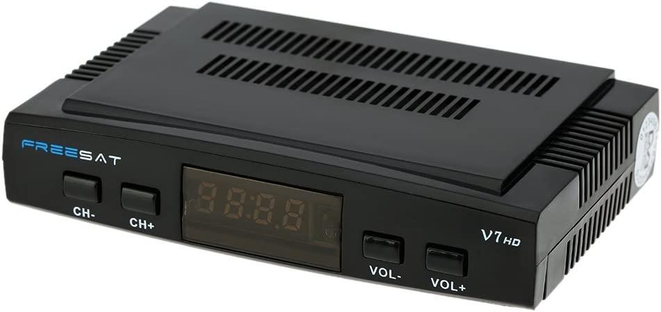 docooler FREE SAT V7 HD DVB-S2 Receptor de TV Vídeo Digital Broadcasting Set Top Box Compatible con USB PVR EPG PowerVu DRE for TV HDTV EU enchufe