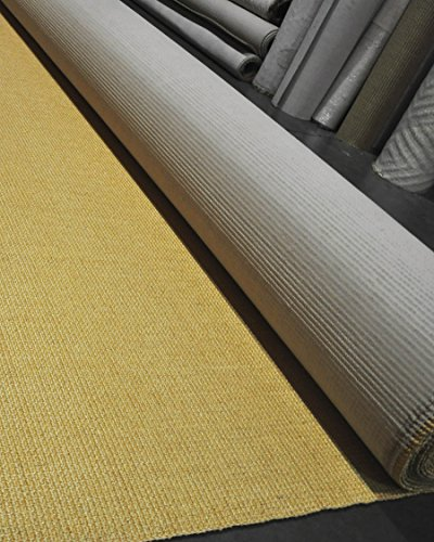 NaturalAreaRugs Wall to Wall Heavy Boucle Sisal Carpet - 100 Percent Natural Sisal with Latex Backing - 13'ft Wide Custom Lengths Sold by The Foot - up to aprox. 98'ft