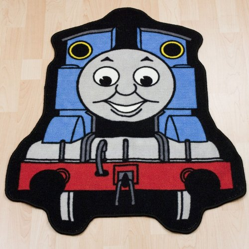 Childrens/Kids Boys Thomas The Tank Engine Bedroom Floor Rug/Mat (33 x 26 Inches) (Blue/Red)
