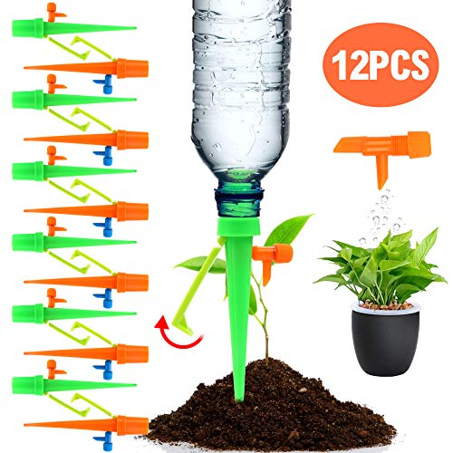 - Freehawk Plant Waterer Automatic Self Watering SpikesSelf Irrigation Watering System Self Drip Irrigation with Slow Release Control Valve Switch for Potted Plants (12PCS New)