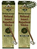 All Terrain DEET-Free Herbal Armor Insect Repellent Sticks (Pack of 2), 2 Pack, A More Natural Scent and Formula Than Citronella Candles, Non-Toxic, Great for Spending Time Outdoors