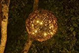 "Natural Willow Branch LED Pendant Lamp By Willowbrite (12"") Christmas Decor, Ambient Mood Lighting Night Globe, Romantic Lantern For Wedding, Holiday, Patio, Outdoor (Warm White), rattan, grape"