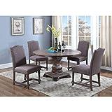 Best Master Furniture M084 Ellisburg Wooden 5 Piece Dining Set, Otter For Sale