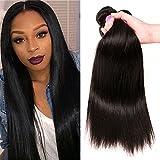 QinMei Brazilian Hair Straight 7A Grade 100% Unprocessed Virgin Human Hair 3 Bundles Weave Natural Color (18 20 22inches)