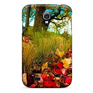 Case Cover Protector For Galaxy S4 Autumn Colorful Leaves Landscape Case