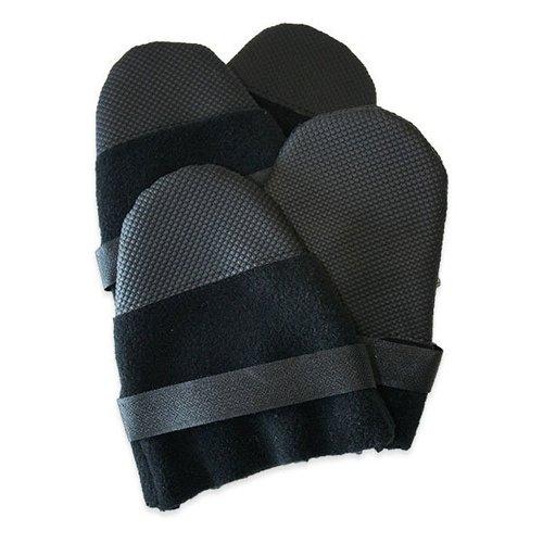 Muttluks Hott Doggers Lightweight Fleece 2.25-Inch to 2.75-Inch Dog Boots, X-Small, Black, Set of 4