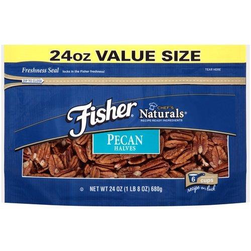Fisher Chef's Naturals Pecans Halves, 24 oz