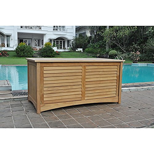 Pool Storage Box. Complete Your Patio, Garden or Pool with This Teak Deck Box price
