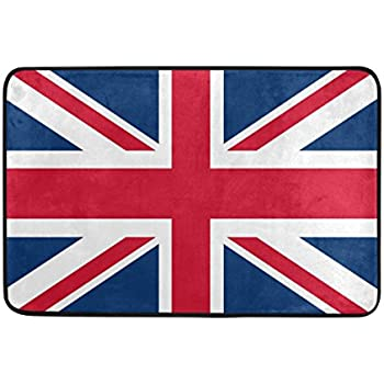 Amazon Com Black And White British Flag Non Slip Doormat