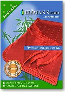 Paño de limpieza Elimann de bambú XL brillante, antibacterias, para limpieza sin marcas ni