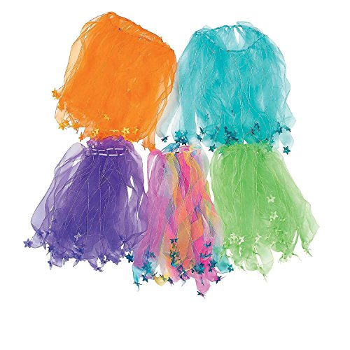 Tutu Assortment - Bargain World Nylon Star Tutu Assortment (With Sticky Notes)