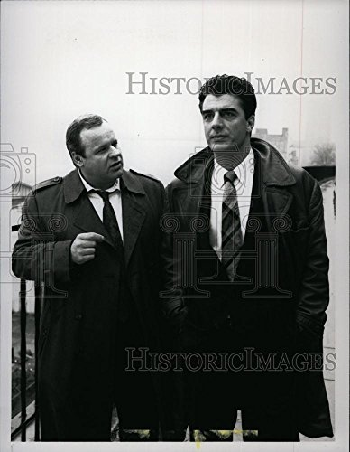 1990 Press Photo George Dzundza Actor Christopher Noth Law Order TV Series - Noth Bend