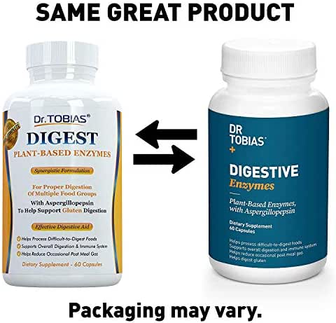 Dr. Tobias Super Digestive Enzymes, Plant-Based, Non-GMO by Dr. Tobias
