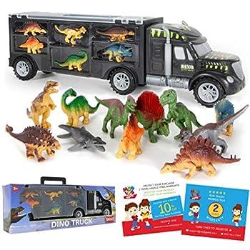 Dinosaur Truck Provider – Dinosaur Toy for Boys, 12 Dinosaur Toys Playset – Toy Dinosaurs for Boys Age 3 & Up with Extra Dinosaur Figures, Dinosaur Vans for Boys Toys Age 4-5, 6, 7 Years Previous