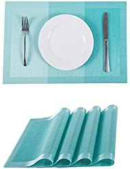 SUNSHINE FASHION Set Of 4 Placemats,Placemats For Dining Table,Heat Resistant  Placemats