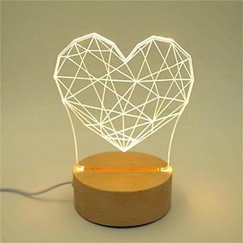 Luz Visual Nocturna 3D, Lámpara De Ahorro De Energía Led ...