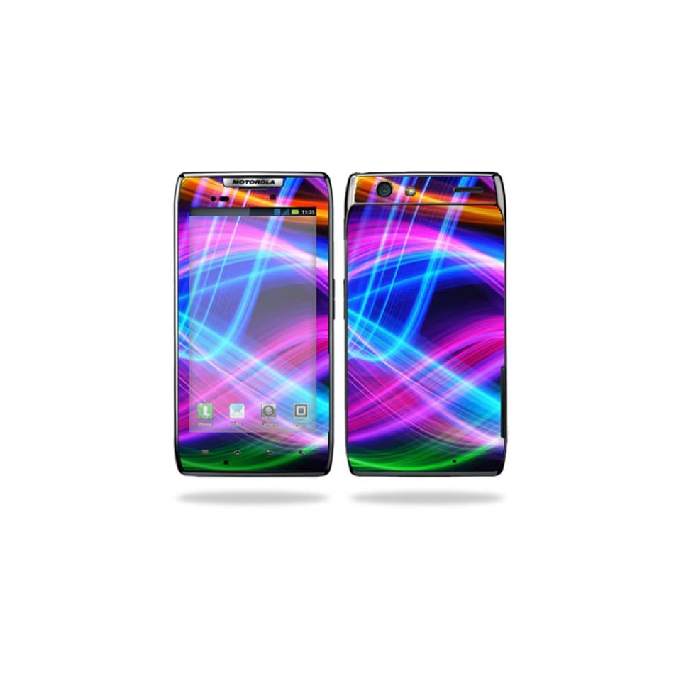 Protective Vinyl Skin Decal Cover for Motorola Droid Razr Android Smart Cell Phone Sticker Skins   Light waves