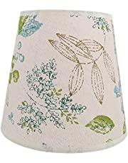 Beaupretty Linen Lamp Cover Shade Barrel Rustic Farmhouse E27 Lamp Holder Lampshade for Table Lamp and Floor Light Style 1