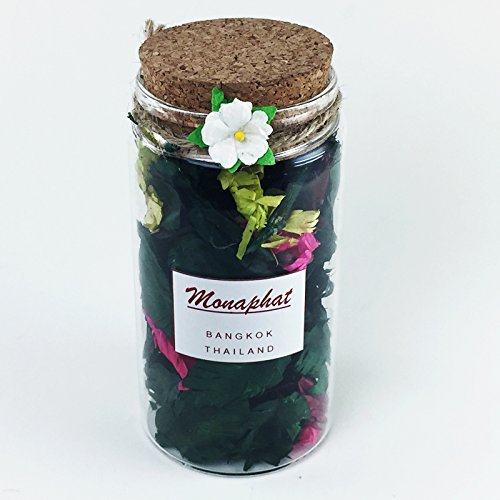 MONAPHAT The Beautiful Glass Bottle Design Decorative with LILY Fragrance Potpourri #PR-0807 by MONAPHAT