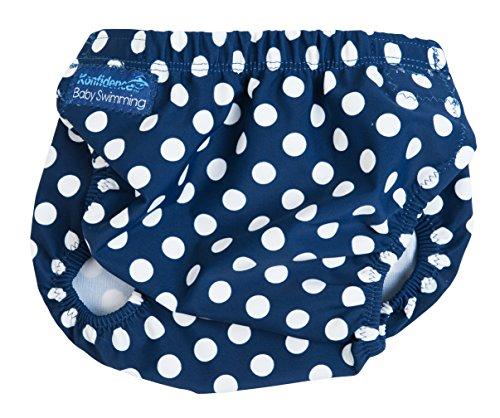 Konfidence Aquanappy Swim Diaper, Navy Polka Dot, One Size (3-30 Months)