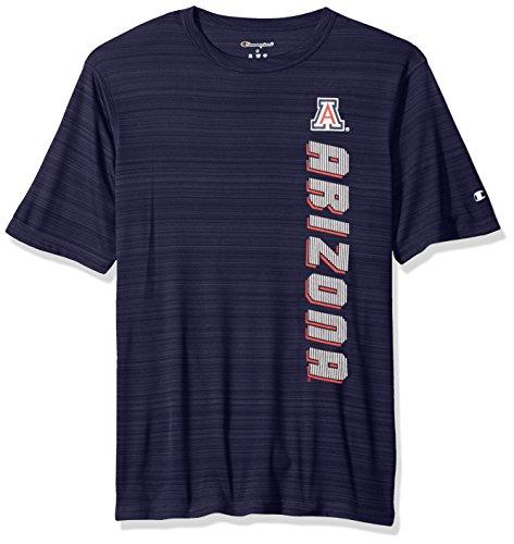 NCAA Arizona Wildcats Men's Boosted Stripe T-Shirt, Large, Navy