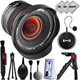 Opteka 12mm f/2.8 Ultra Wide Angle Aspherical Lens for Canon EOS M DSLR Cameras w/ 20PC Bundle for Canon EOS M50, M100, M10, M6, M5
