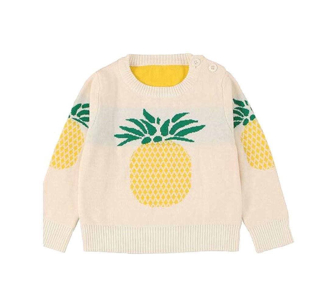 Easonp Girls Classical Cute Winter Print Knitted Jumper Sweaters