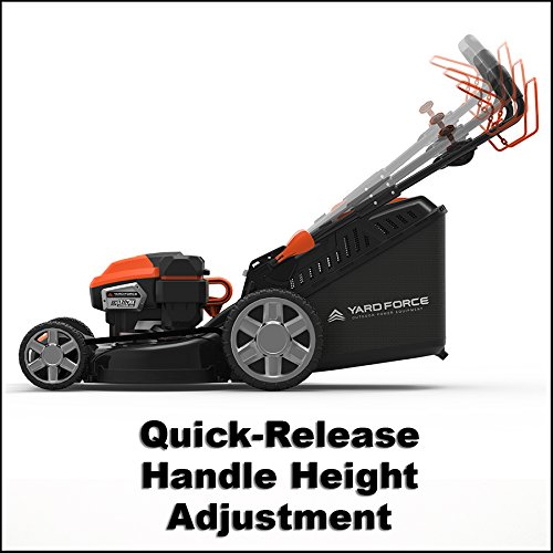 """Yard Force Lithium-Ion 22"""" Self-Propelled 3-in-1 Mower with Torque-Sense Control - 2 Batteries & Fast Charger included by YARD FORCE (Image #6)"""