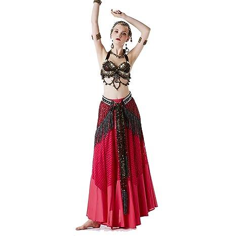 Vestido de Baile Falda de Danza del Vientre Traje de Danza ...