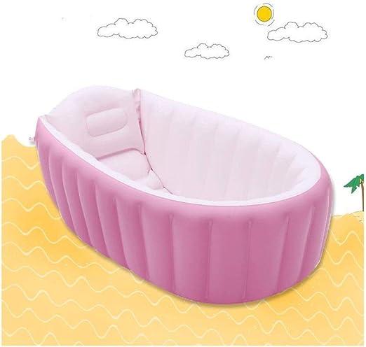 LYM & bañera Plegable Bañera para niños Hogar Bebé Inflable Baño ...